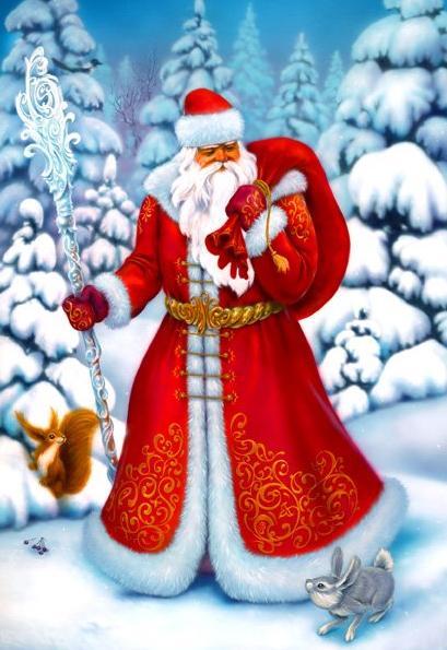 загадка про деда Мороза