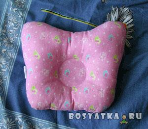 Ортопедическая подушка для новорождённого