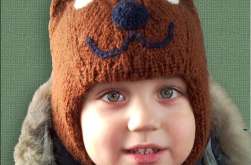 Шапка-шлем двойная Медвежонок