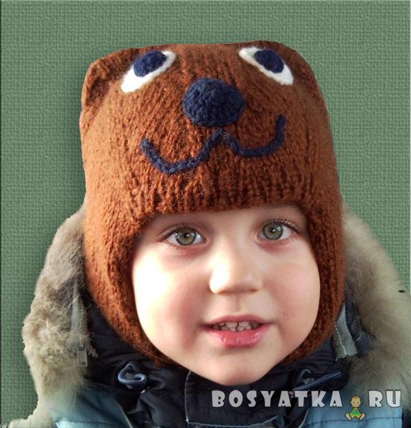 Шапка-шлем Медвежонок