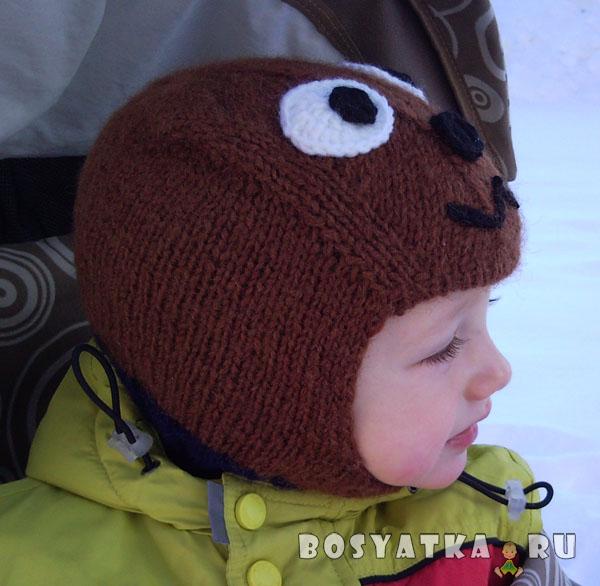 """Шапка-шлем Медвежонок без """"ушек"""""""
