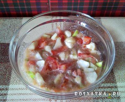 Сырой вегетарианский суп с топинамбуром