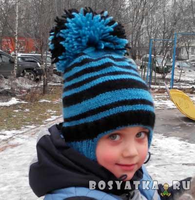 Детская двойная шапочка с ушками