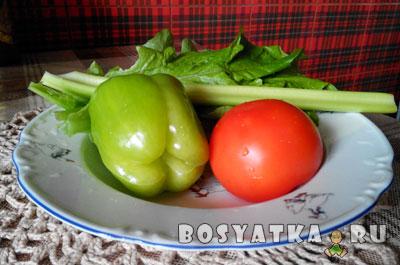 овощи для паштета из зеленой гречки
