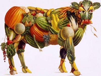 корова из овощей