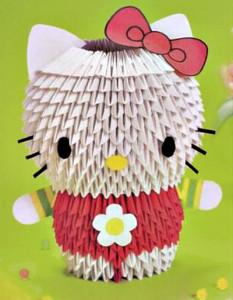 котенок китти модульное оригами