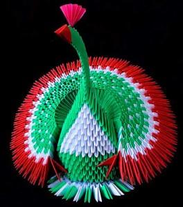 павлин модульное оригами