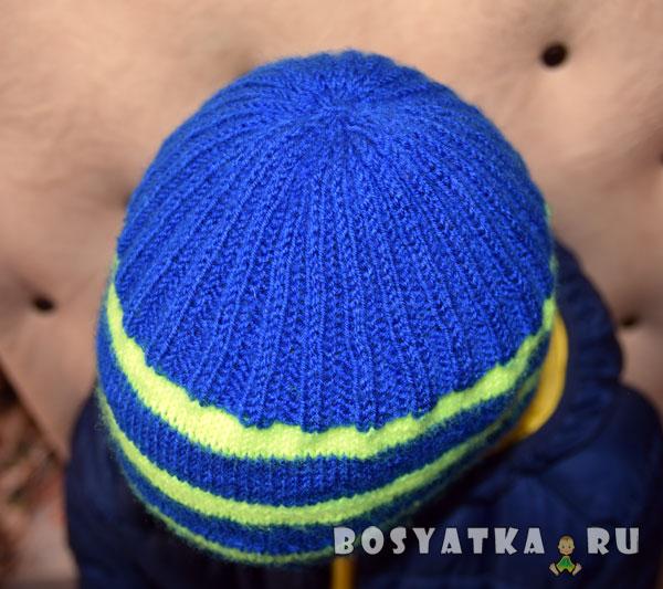 шапка полосатая, макушка
