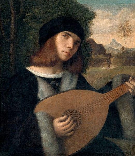 Мужчина играющий на лютне Джованни Кариани 16 век