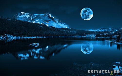 Озеро ночью