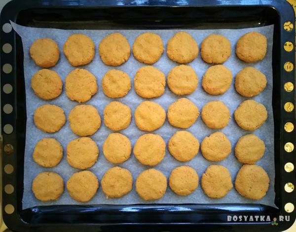 Морковное печенье готово к выпечке