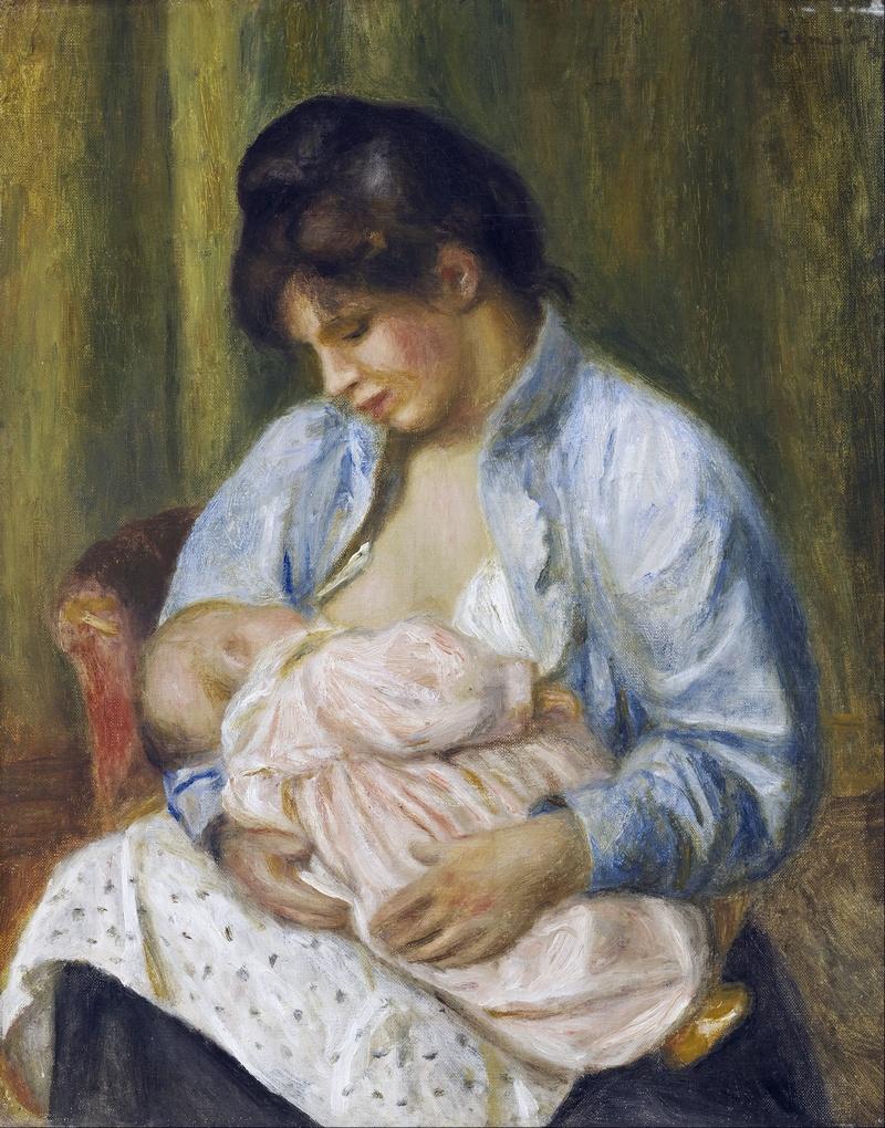 "Пьер Огюст Ренуар ""Женщина, кормящая ребёнка"", 1894 г"