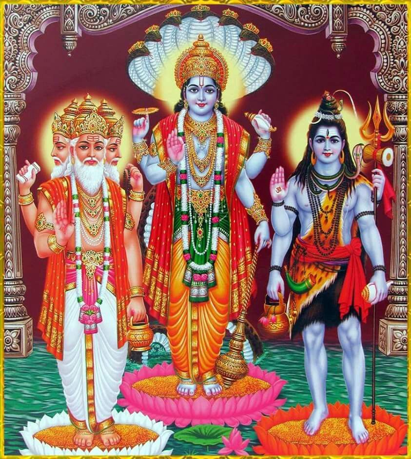Брахма, Вишну и Шива