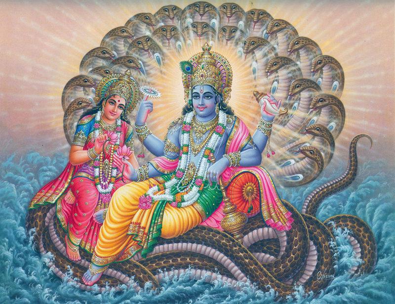 Лакшми и Вишну